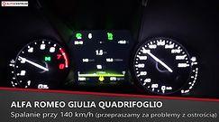 Alfa Romeo Giulia Quadrifoglio 2.9 V6 510 KM (MT) - pomiar zużycia paliwa