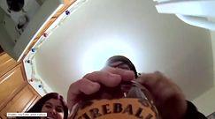 Impreza z perspektywy butelki