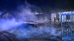 Pożar magazynów w Wieńcu