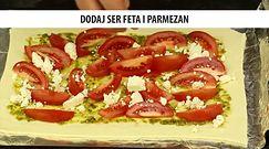 Zapiekanka z pomidorami i fetą. Szybki obiad w greckim stylu