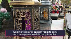 Kradzieże na cmentarzach. Jak Polacy zabezpieczają znicze i wiązanki?