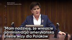 Politycy PiS o wizach do USA dla Polaków