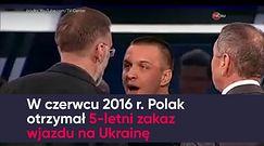 """Polak pobity w rosyjskiej telewizji za """"czerwonych faszystów"""""""