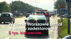 Strajk taksówkarzy. Internauci wściekli przez utrudnienia na drogach