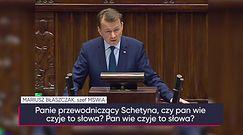 """Szef MSWiA do lidera PO: """"Wstyd panie Schetyna, wstyd"""""""