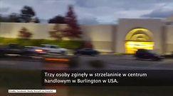 Trzy osoby zginęły w strzelaninie w centrum handlowym w Burlington w USA