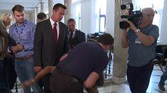 Incydent w Sejmie podczas konferencji marszałka Terleckiego