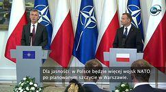 Szef NATO w Warszawie: chcemy wysłać wyraźny komunikat agresorom