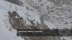 Potężna lawina uchwycona przez wspinacza