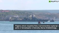 """Krążownik """"Moskwa"""" wypłynął z Krymu"""