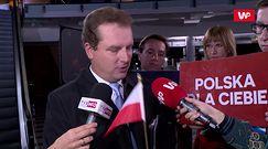 Debata przed wyborami parlamentarnymi 2019. Jacek Wilk o incydencie z flagą