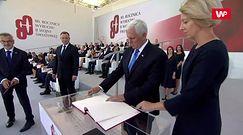 1 września. Wiceprezydent USA Mike Pence w Polsce