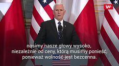 Spotkanie Andrzej Duda - Mike Pence. Wiceprezydent USA zacytował Wałęsę
