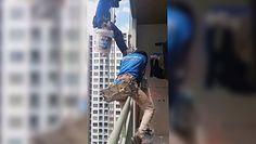 """Praca na wysokości. Tajlandzka policja: """"Kobieta przyznała się do przecięcia liny"""""""