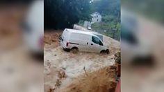Powódź w Belgii znów spustoszyła Dinant. Wystarczyło kilka sekund