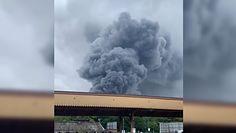 Potężna eksplozja w Wielkiej Brytanii. Ogień trawi teren zakładu przemysłowego w środkowej Anglii