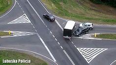 Dron przeleciał nad wypadkiem. Nagranie lubuskiej policji
