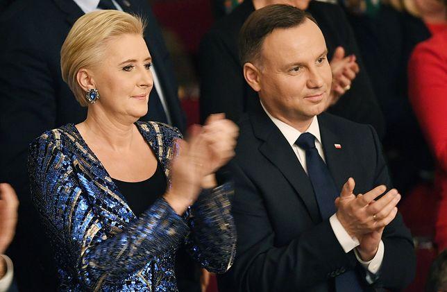 Prezydent z małżonką na wielkanocnym koncercie w Filharmonii Narodowej.