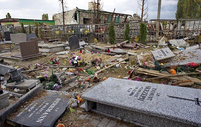 Śląski cmentarz wyleciał w powietrze - zdjęcia