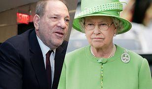 Królowa Elżbieta II odebrała Harveyowi Weinsteinowi brytyjskie odznaczenie