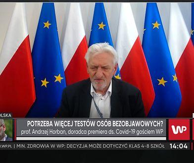 """Profesor Andrzej Horban o zmianach dla uczniów w klasach 4-8. """"Wstrzymać oddech i poczekać"""""""