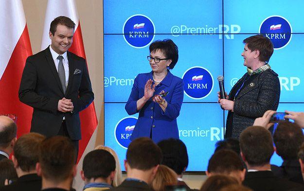 Beata Szydło, Elżbieta Witek i Rafał Bochenek