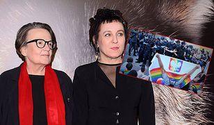 Agnieszka Holland i Olga Tokarczuk - inicjatorki petycji przeciwko homofobicznej agresji w Polsce