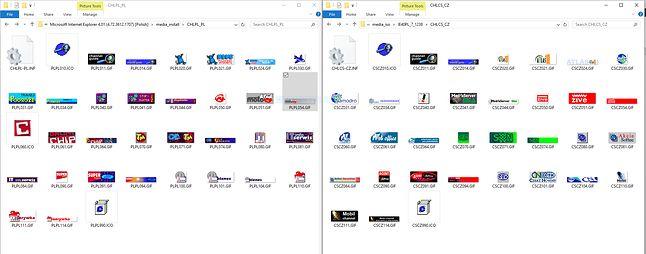 Kanały: pierwsze kafelki od Microsoftu. Po lewej nasze, po prawej czeskie :)