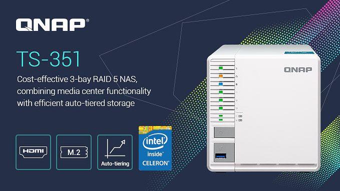 QNAP TS-351: nowy NAS z trzema zatokami na dyski i dwoma złączami NVMe M.2 SSD
