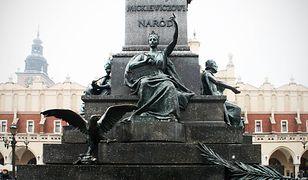 Pomnik Adama Mickiewicza na krakowskim rynku