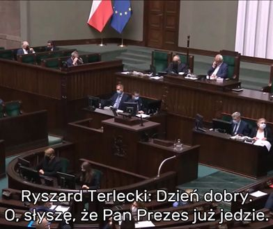 Marszałek i szef klubu PiS Ryszard Terlecki w Sejmie