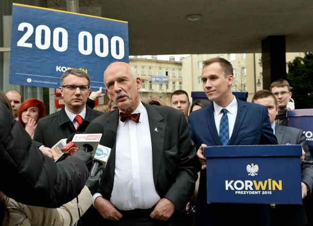 Pod kandydaturą Korwin-Mikkego podpisało się ponad 200 tys. osób