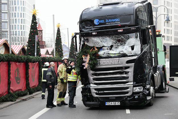Ciężarówka, którą terrorysta dokonał zamachu w Berlinie