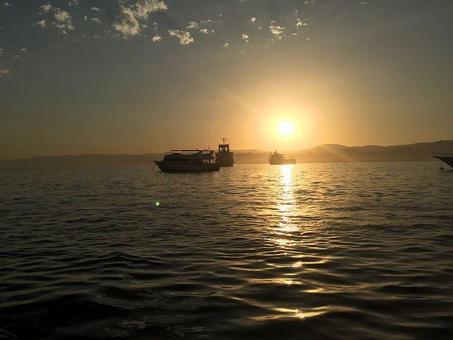 Zatoka Akaba w Jordanii