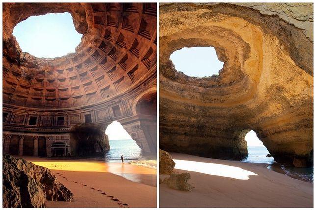 Zapomniana świątynia Lizystraty w Grecji/ Benagil, Portugalia