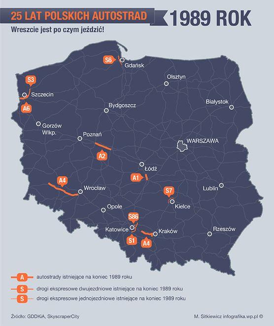 1989 rok, czyli autostrady głównie poniemieckie