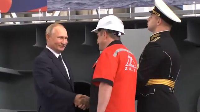 Rosja buduje nowe okręty. Putin wziął udział w uroczystościach położenia stępki