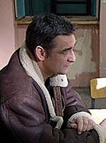 "Robert Gonera na planie ""Determinatora"""