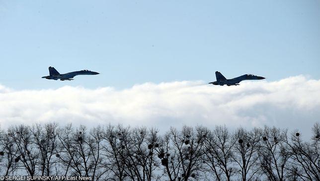 Rosja. Samoloty Su-27.
