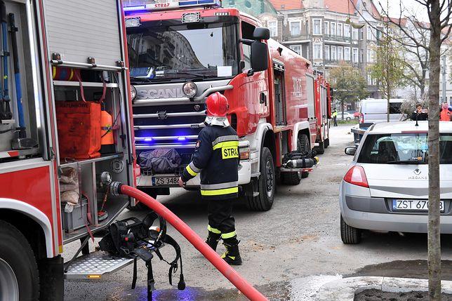 Szczecin. Pożar w kamienicy. Są ofiary i ranni