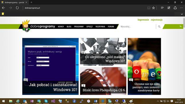 Edge na Windows 10