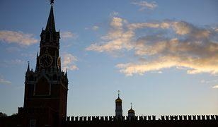 Silny wiatr w Moskwie. Mur Kremla uszkodzony [WIDEO]