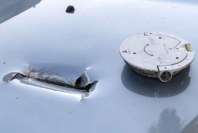 Fragment airbusa oderwał się w locie i trafił w samochód