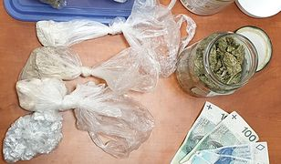 Warszawa. W łazience miał marihuanę, mefedron, amfetaminę i heroinę