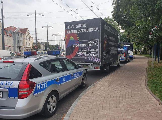 Sopot. Jacek Karnowski prezydent miasta poinformował o zatrzymaniu ciężarówki