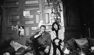 """Nicolas Roeg z Mickiem Jaggerem na planie filmu """"Performance"""""""