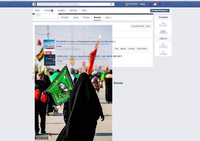 Przykładowa strona Wydarzeń dla FanPage-u.