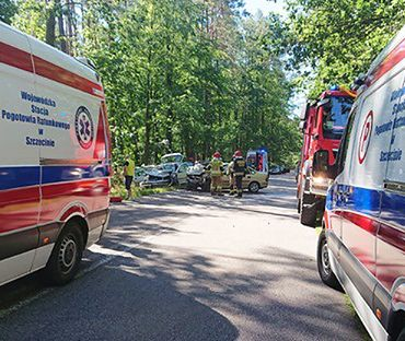 W wypadku zderzyły się cztery auta