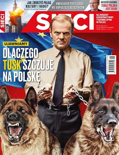"""""""Sieci"""" bije w Tuska. Udowadniają, że szef Rady Europejskiej spłaca swój dług wobec kanclerz Angeli Merkel."""