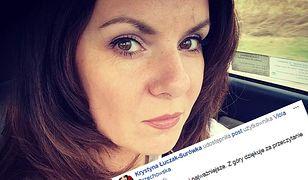Krystyna Łuczak-Surówka udostępniła informację o przykrym wypadku